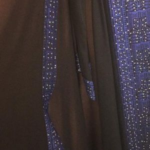 Used, Nwt black and blue abaya for sale
